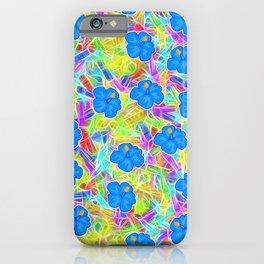 Hawaiian Blue Flowers iPhone Case