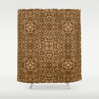 brown Shower Curtains featuring Brown  by MinaSparklina