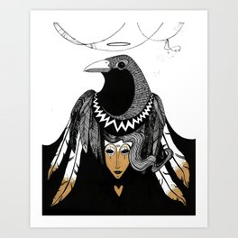 Bird Women 3 Art Print