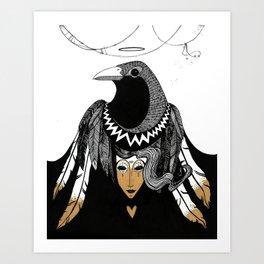 Bird Women 3 Art Print