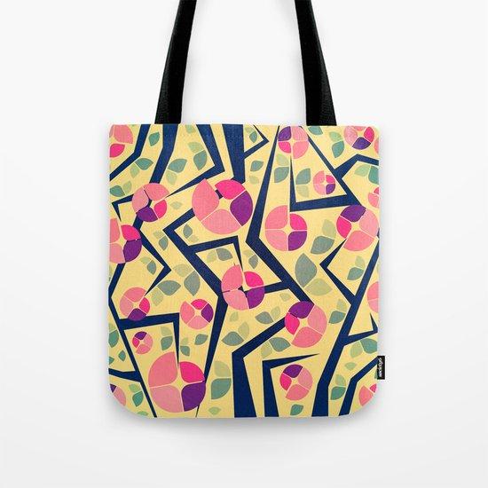Blooming Trees Pattern Tote Bag