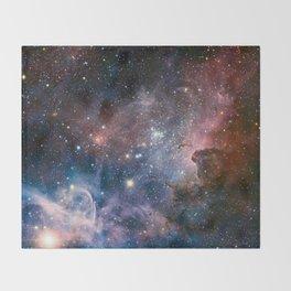 Carina Nebula Star Photography Throw Blanket