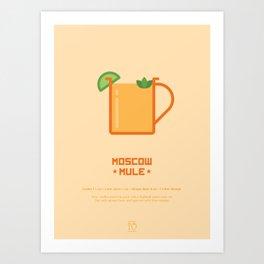 Moscow Mule Cocktail Recipe Art Print Art Print