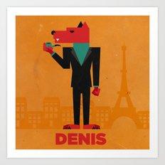 Denis (LE LOUP-GAROU)  Art Print