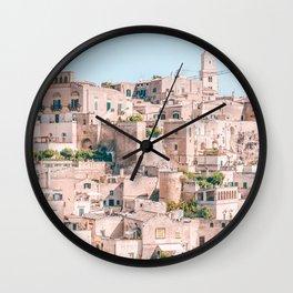 Matera City, Italy. Wall Clock