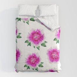 Pink Flower Pattern Dianthus Comforters