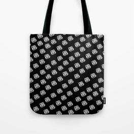 White Rose, Black Background Tote Bag