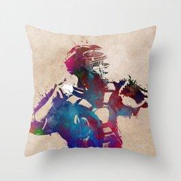 Baseball player 1 #baseball #sport Throw Pillow