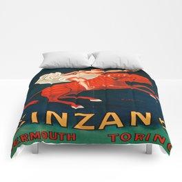 Vintage poster - Cinzano Vermouth Torino Comforters