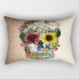 Skull flower Rectangular Pillow