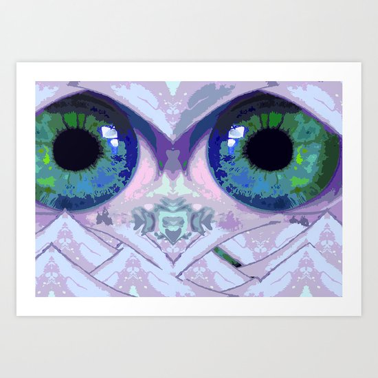 Mountain Eyes Art Print