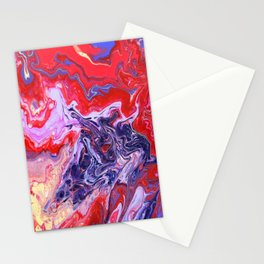 Red and Purple Cosmos Stationery Cards