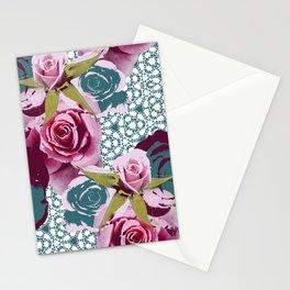 Modern Baroque Rose Stationery Cards