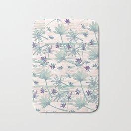 Sea floral print Bath Mat