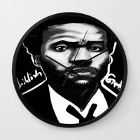 childish gambino Wall Clocks featuring Gambino Variant by Joshua Beckett