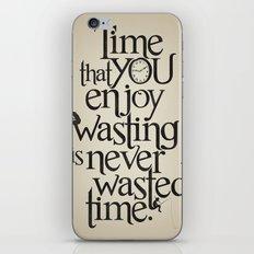 Wasting Time iPhone & iPod Skin