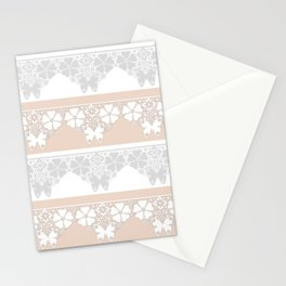Peach-colored lace . Stationery Cards