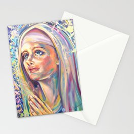Saint Claire of Assisi, potrait Stationery Cards