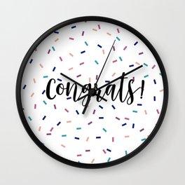 Congrats Sprinkles Wall Clock