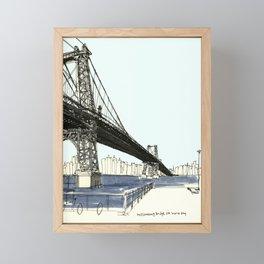 First Sunny Day, Williamsburg Bridge Framed Mini Art Print