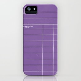 Library Card BSS 28 Negative Purple iPhone Case