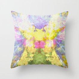 Abstract Spring Throw Pillow