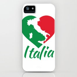 Italia Heart - I Love Italy iPhone Case