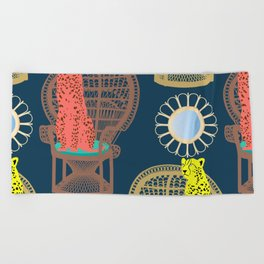 Rattan Cheetah Chairs + Mirrors Beach Towel