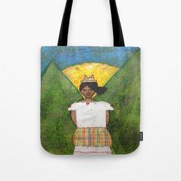 St. Lucian/Caribbean Girl Tote Bag