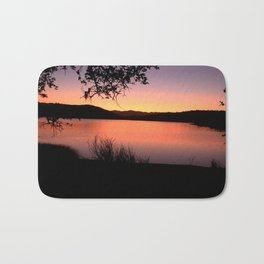 LAKE HENNESSEY - NAPA CALIFORNIA - SUNSET REFLECTION Bath Mat