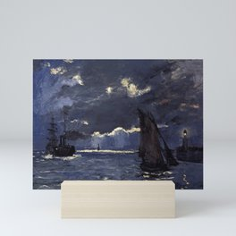 Claude Monet - A Seascape, Shipping by Moonlight Mini Art Print