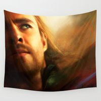 thor Wall Tapestries featuring Thor by Kate Dunn