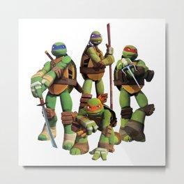 Turtles Konkurranse Metal Print