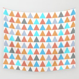 Triangles orange Wall Tapestry