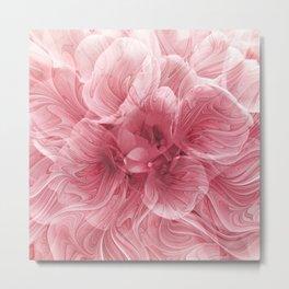 Fantasy Fractal Flower Metal Print