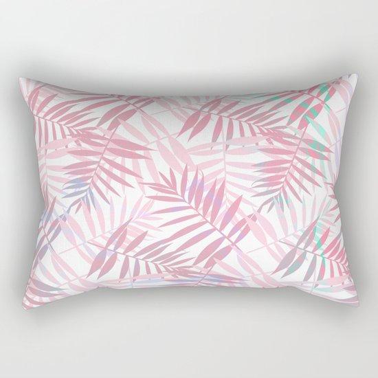 Pastel Color Palms Pattern Rectangular Pillow