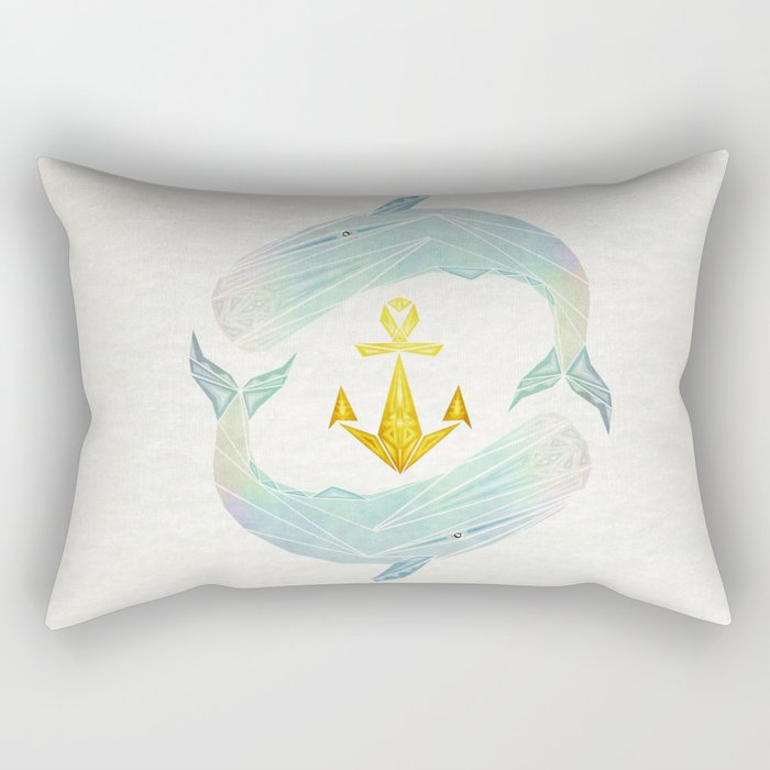 white whale Rectangular Pillow