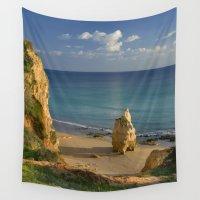 portugal Wall Tapestries featuring Praia da Rocha, Algarve, Portugal by Michael Howard