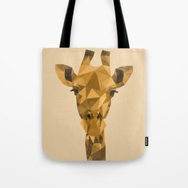 Distressed Low Poly Giraffe Tote Bag