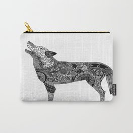 Henna-Inspired Wolf Carry-All Pouch