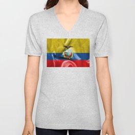 Ecuador Flag Unisex V-Neck