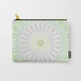 Rhythm of Spring Mandala in Pastel Green, Purple and Yellow Carry-All Pouch