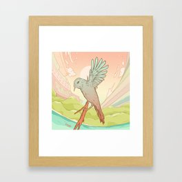 Clockhead (or the Contemplation of Time) Framed Art Print