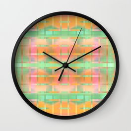 Peach Cobbler Plaid Wall Clock