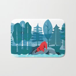 Fishing Bear Bath Mat