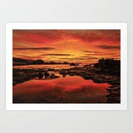 Evenings End Art Print