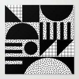 Retro Memphis Geometric Design 224 Canvas Print