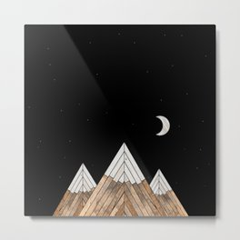 Digital Grain Mountains Metal Print
