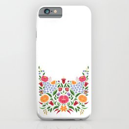 Hungarian folk pattern – Kalocsa embroidery flowers iPhone Case