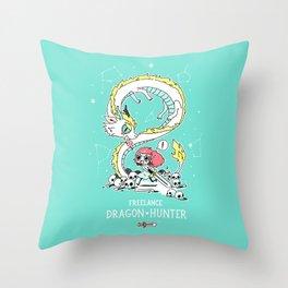 Dragon Hunter Throw Pillow